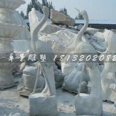 大理石仙鹤雕塑公园动物石雕