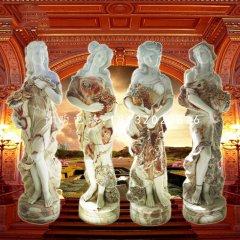 四季神石雕,歐式人物石雕