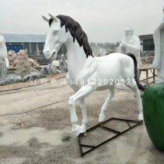 玻璃钢白马雕塑,动物雕塑