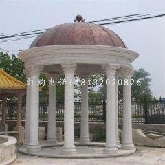 别墅区凉亭石雕,欧式圆顶石凉亭