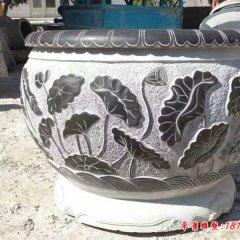 青石仿古水缸石雕