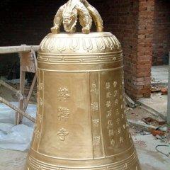 黃銅寺廟鐘雕塑