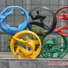 不銹鋼奧運五環雕塑