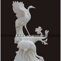 丹頂鶴石雕,漢白玉仙鶴