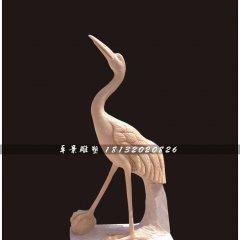 仙鶴石雕,晚霞紅仙鶴雕塑,公園動物雕塑