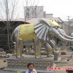 不锈钢门口大象雕塑