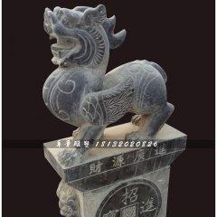 青石招財貔貅,神獸石雕