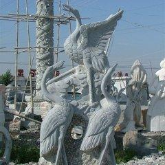 丹頂鶴石雕,青石丹頂鶴雕塑