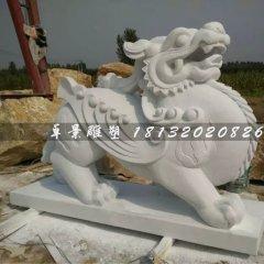 漢白玉門口招財貔貅石雕