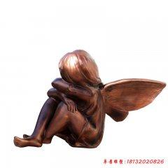 玻璃鋼西方小天使小精靈雕塑