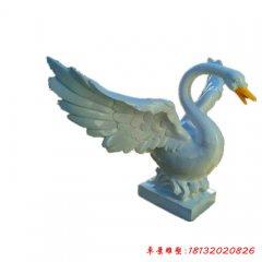 玻璃钢公园动物仿真天鹅雕塑