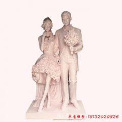 玻璃鋼仿真人物新郎新娘雕塑