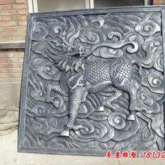 麒麟銅浮雕,鍛銅麒麟浮雕