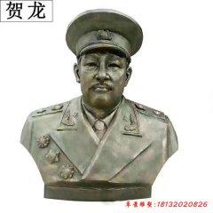 铸铜贺龙头像雕塑