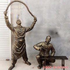 玻璃鋼仿銅飯店拉面人物雕塑