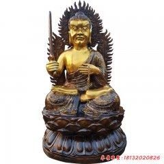 銅雕宗教廟宇不動明王佛像