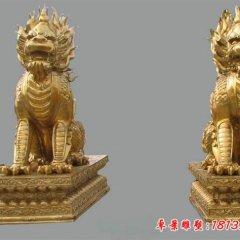 銅雕麒麟,鑄銅麒麟雕塑
