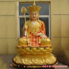 玻璃鋼貼金坐式地藏王菩薩