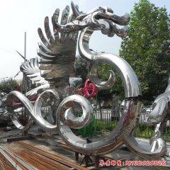 企业不锈钢抽象龙雕塑