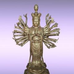 千手觀音銅雕,大型立式銅佛像