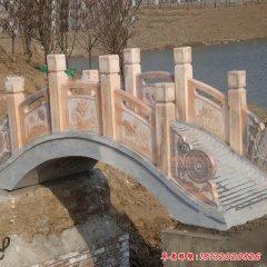 晚霞红公园小桥石雕