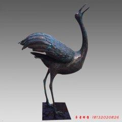 青铜丹顶鹤雕塑