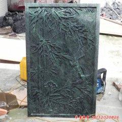 小区竹子铜浮雕壁画