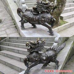 鑄銅鎮宅招財麒麟雕塑