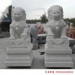 汉白玉传统北京狮雕塑