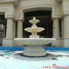石雕三层简约欧式喷泉