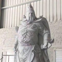漢白玉關公武財神雕像