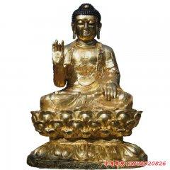 銅雕貼金釋迦牟尼