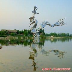 不锈钢景区抽象中国龙