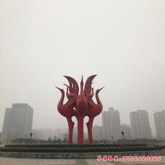 不锈钢城市大型抽象丹顶鹤