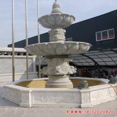 大理石双层欧式喷泉雕塑