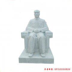 汉白玉十大元帅朱德雕像