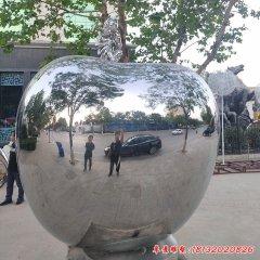 不锈钢大型镜面苹果雕塑