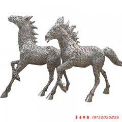 不锈钢公园镂空奔马