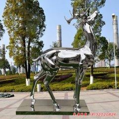 不锈钢公园镜面梅花鹿