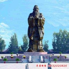 铜雕景区大型孔子行教像