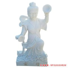 石雕電母神像