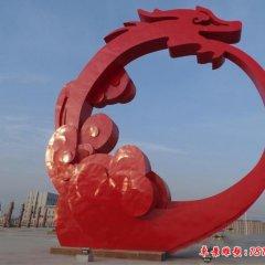 不锈钢城市大型抽象龙