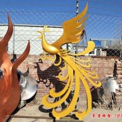 不锈钢公园抽象金凤凰