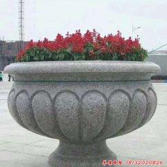 大理石公园花盆雕塑