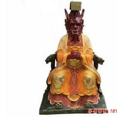 玻璃鋼彩繪龍王神像