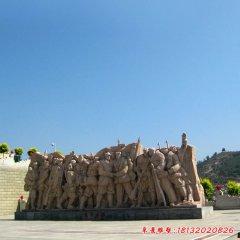 勝利會師八路軍石雕