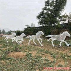 公园不锈钢编织镂空马雕塑