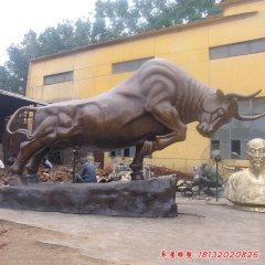 企業拓荒牛銅雕