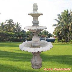 石雕三层简易喷泉