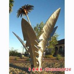 不锈钢蒲公英公园植物雕塑